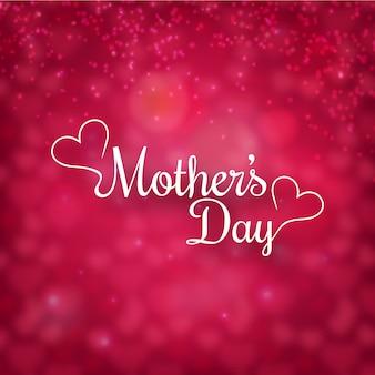 Dia das mães com fundo defocused