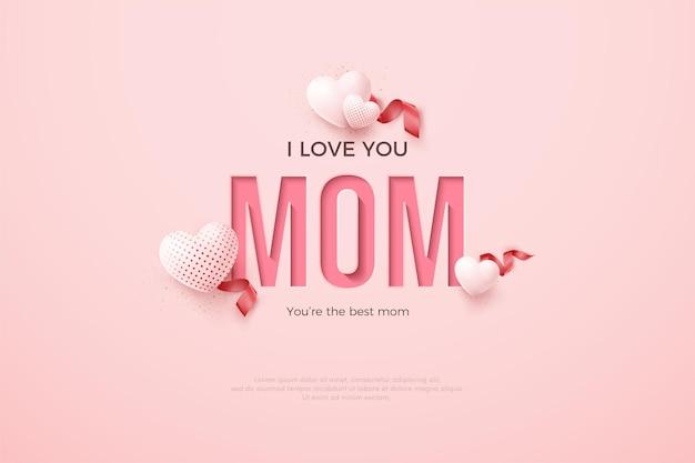Dia das mães com papel prensado para escrever.