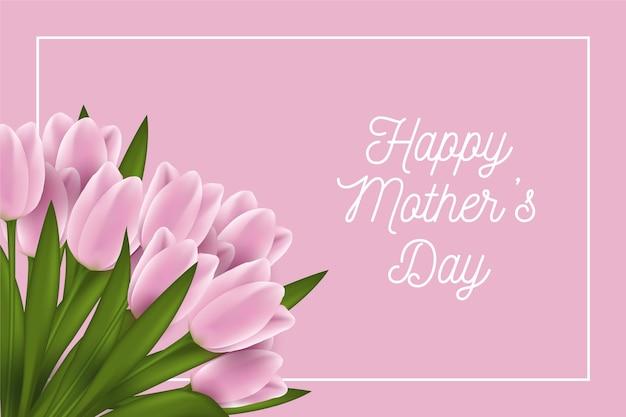 Dia das mães com tulipas