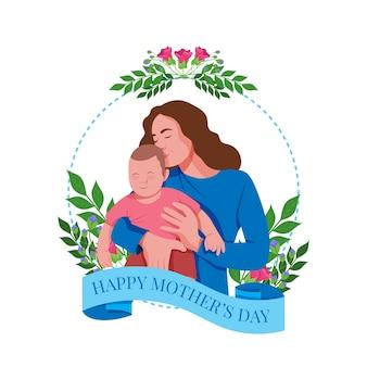 Dia das mães em design plano