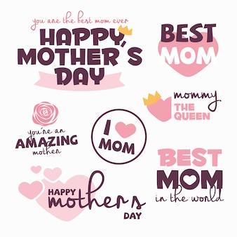 Dia das mães etiqueta a coleção