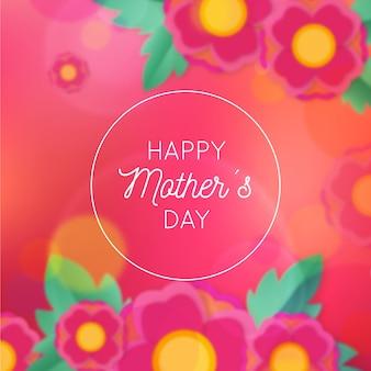 Dia das mães floral turva