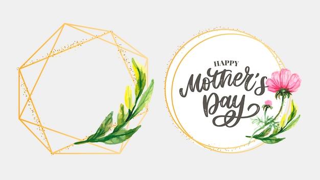 Dia das mães. flores da primavera em aquarela. composição artística.