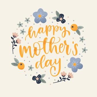 Dia das mães na mão desenhada