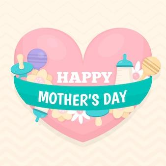 Dia das mães plana com chupeta