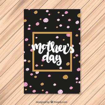 Dia das mães saudação com pintados à mão bolinhas