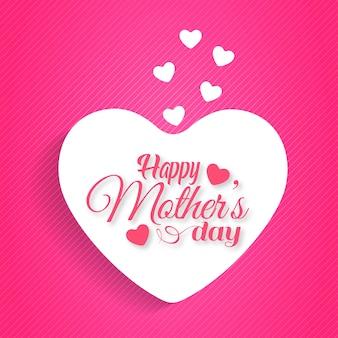 Dia das Mães tipográfico com fundo rosa