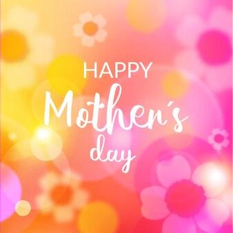 Dia das mães turva com letras