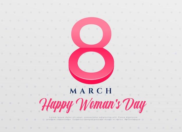 Dia das mulheres elegante dia da celebração internacional