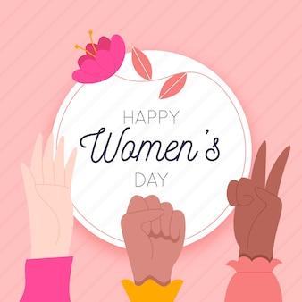 Dia das mulheres em design plano