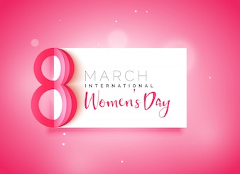 Dia das mulheres feliz fundo rosa bonito