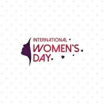 Dia das mulheres felizes com padrão de fundo e tipografia