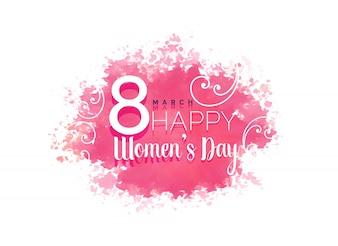 Dia das mulheres fundo da cor da água com floral