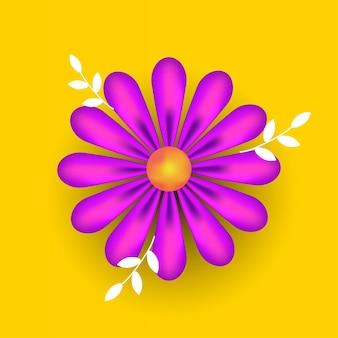 Dia das mulheres, marcha, feriado, folheto, banner, folheto ou cartão com flor decorativa