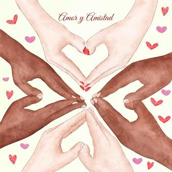 Dia de amizade e evento de amor