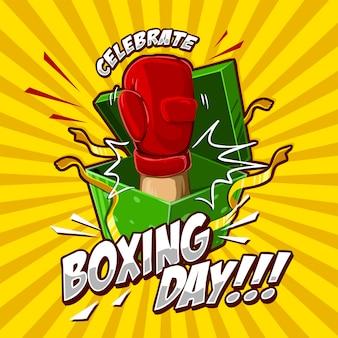 Dia de boxe comemorar