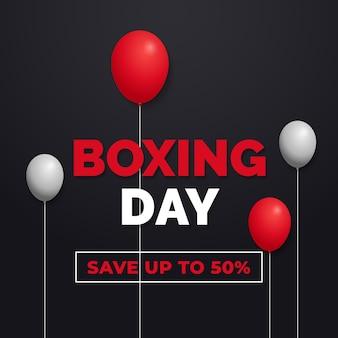Dia de boxe economize 50% banner
