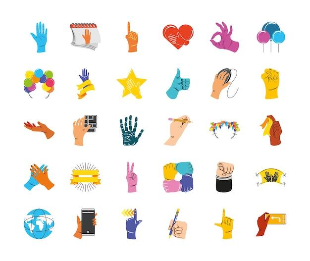 Dia de celebração da mão esquerda