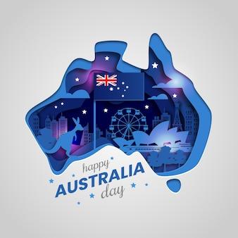 Dia de corte de papel na austrália