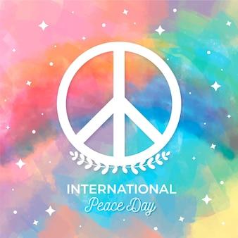 Dia de design colorido de celebração da paz