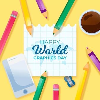 Dia de gráficos do mundo realista