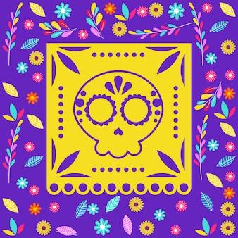 Dia de los muertos cartão