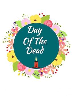 Dia de los muertos (dia dos mortos) conceito de festival.