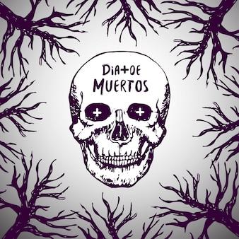 Dia de mortos - fundo mexicano. dia dos mortos