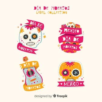 Día de muertos badge collection