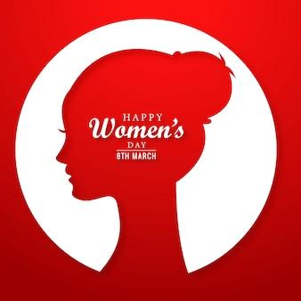 Dia de mulheres bonitas dia 8 de março de fundo de cartão