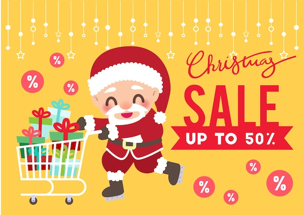 Dia de natal promoção venda flyer fundo vector