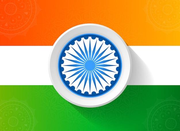 Dia de república abstrata da índia com bandeira tricolor
