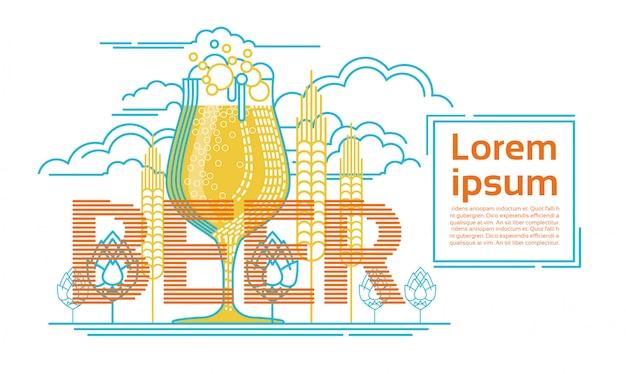 Dia de são patrício cerveja festival design