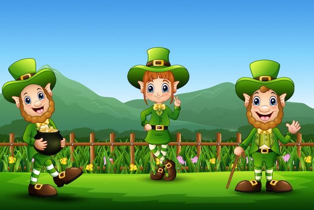 Dia de são patrício leprechaun comemorar sobre a natureza