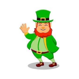 Dia de são patrício personagem de desenho animado leprechaun