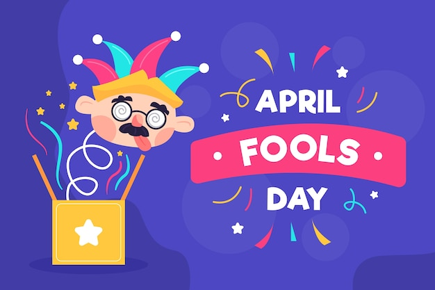 Dia de tolos de abril de design plano