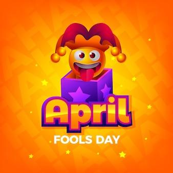 Dia de tolos de abril de design realista