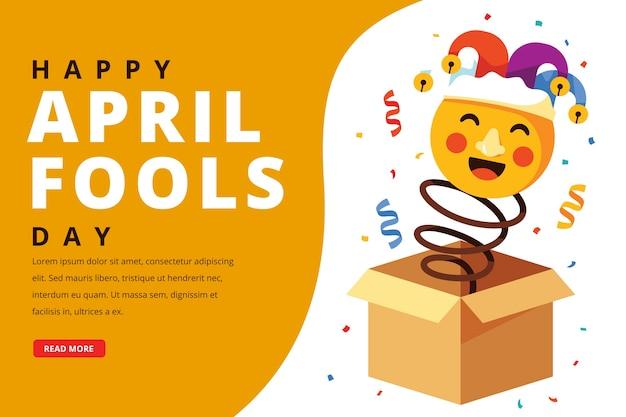 Dia de tolos de abril de estilo simples