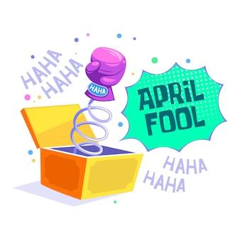 Dia de tolos de abril plana