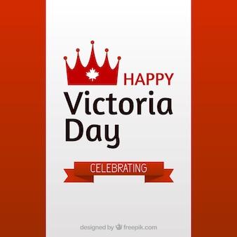 Dia de victoria fundo com fita