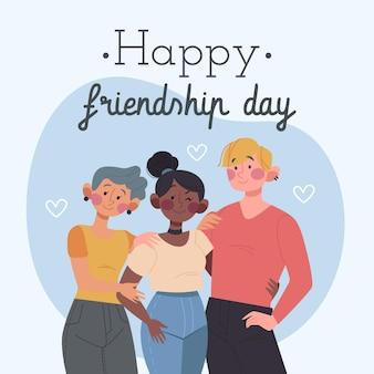 Dia del amigo - ilustração 20 de julio