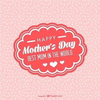 Dia deocrative cartão do quadro da mãe