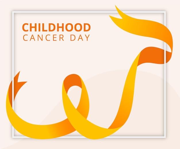 Dia do câncer infantil desenhado à mão