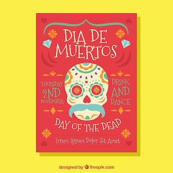 Dia do cartaz da morte com estilo adorável