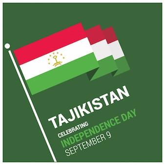 Dia do dia da independência de celebração do tajiquistão 3d 9 de setembro