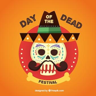 Dia do festival inoperante, crânio mexicano