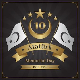 Dia do memorial dourado do ataturk