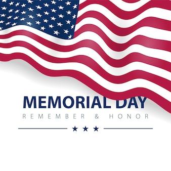 Dia do memorial, lembra-se o veterano dos estados unidos da américa. bandeira dos eua.