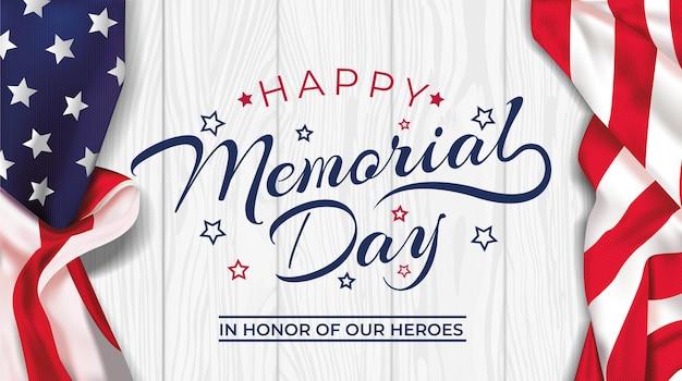 Dia do memorial - pôster lembrança e honra