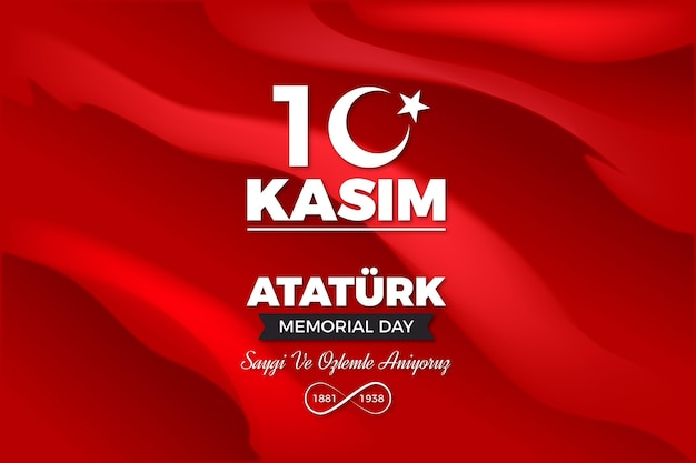 Dia do memorial realista de ataturk